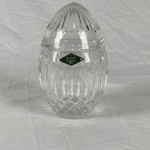 Vintage Shannon Crystal Decorative Egg with Lid